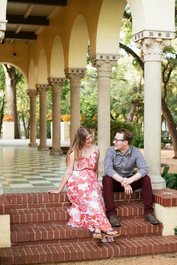 Landa Library San Antonio Texas Engagement Photography