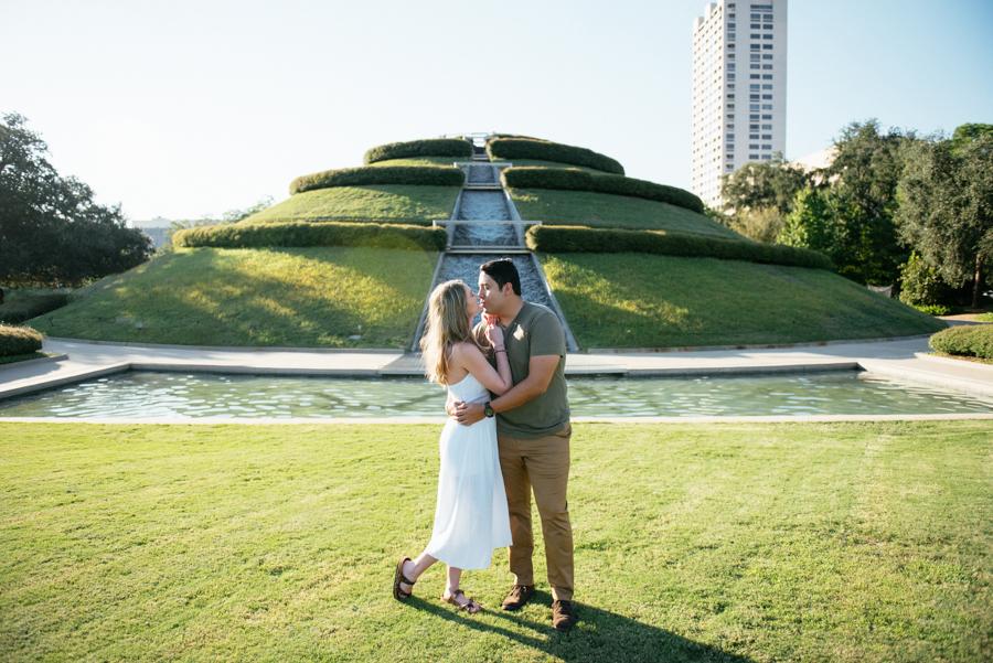 McGovern Centennial Garden Engagement Photos Houston TX