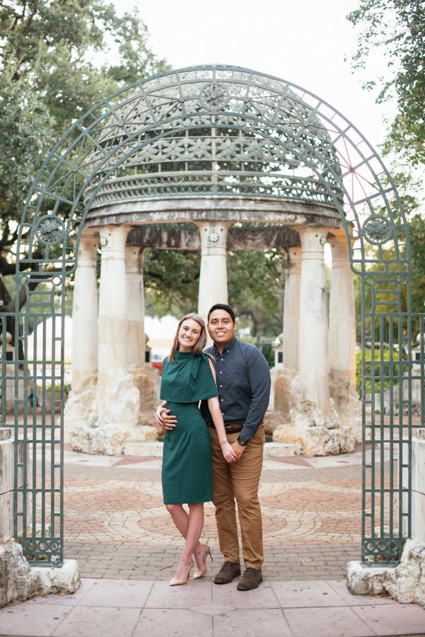 Engagement Session Sam Houston Statue at Hermann Park